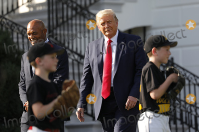 Mariano Rivera Photo - United States President Donald J Trump with Mariano Rivera the MLB Hall of Fame Closer from the Yankees watch young players to mark the Opening Day of the Major League Baseball Season on the South Lawn of the White House in Washington DC on July 23 2020 Credit Yuri Gripas  Pool via CNPAdMedia