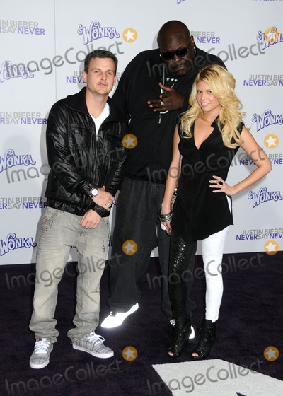 Big Black Photo - 8 February 2011 - Los Angeles California - Rob Dyrdek and Christopher Boykin (aka Big Black) and Chelsea Chanel Dudley Justin Bieber Never Say Never Los Angeles Premiere held at Nokia Theater LA Live Photo Byron PurvisAdMedia