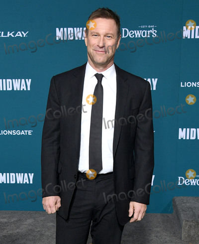 Aaron Eckhart Photo - 05 November 2019 - Westwood California - Aaron Eckhart Midway Los Angeles Premiere held at Regency Village Theater Photo Credit Birdie ThompsonAdMedia