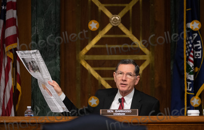 Andrew Wheeler Photo - United States Senator John Barrasso (Republican of Wyoming) holds newspaper at a hearing titled Oversight of the Environmental Protection Agency before the US Senate Environment and Public Works Committee in the Dirksen Senate Office Building on May 20 2020 in Washington DC  EPA Administrator Andrew Wheeler will be asked about the rollback of regulations by the Environment Protection Agency since the pandemic started in March  Credit Kevin Dietsch  Pool via CNPAdMedia