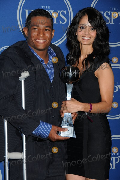 Anthony Robles Photo - 13 July 2011 - Los Angeles California - Anthony Robles and Judy Robles 2011 ESPY Awards - Press Room held at Nokia Theatre LA Live Photo Credit Byron PurvisAdMedia