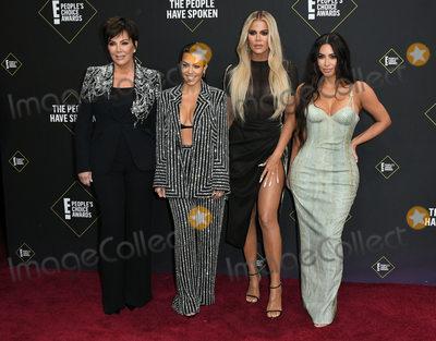 Kris Jenner Photo - 10 November 2019 - Santa Monica California - Kris Jenner Kourtney Kardashian Khloe Kardashian Kim Kardashian 2019 Peoples Choice Awards held at Barker Hangar Photo Credit Birdie ThompsonAdMedia