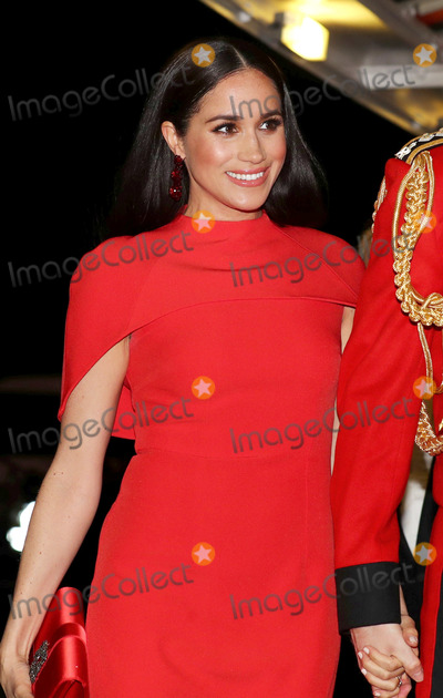 Albert Hall Photo - 07032020 - Meghan Markle Duchess of Sussex at the Mountbatten Festival of Music held at the Royal Albert Hall in London Photo Credit ALPRAdMedia