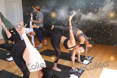 Adrienne Bailon Photo - 31 March 2017 - Beverly Hills California - Draya Michele Serayah McNeill Brittany Hampton Martha Michelle Jasmine Sanders Vaughn Arthur Audrey Sicara Adrienne Eliza Houghton aka Adrienne Bailon Tom Morley Draya Michele and Friends at AloYoga Photo Credit AdMedia