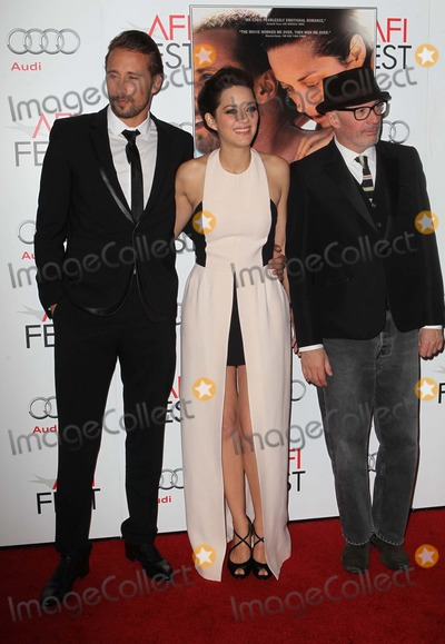 Jacques Audiard Photo - 5 November 2012 - Hollywood California - Matthias Schoenaerts Marion Cotillard and Jacques Audiard 2012 AFI FEST Presented By Audi - Rust And Bone  Held At The Graumans Chinese Theatre Photo Credit Kevan BrooksAdMedia