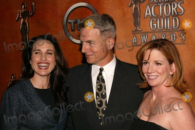 Andie Macdowell Photo - Melissa Gilbert Mark Harmon and Andie MacDowell at the 10th Annual Screen Actors Guild Awards Nominations Announcement Pacific Design Center Los Angeles CA 01-15-04