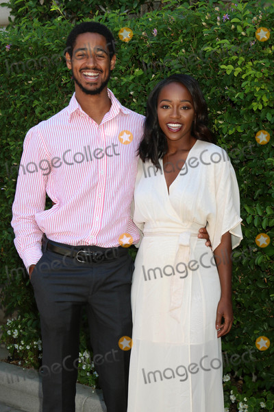 Alfred Enoch Photo - Alfred Enoch Aja Naomi Kingat the The Rape Foundations Annual Brunch Private Residence Beverly Hills CA 09-25-16