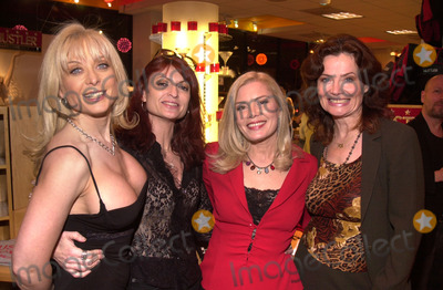 Nina Hartley Photo - Nina Hartley Kelly Nichols Candid Royalle and Veronica Hart at the Post-Valentines Party thrown by Adam  Eve Productions Hustler Store Hollywood 02-21-02