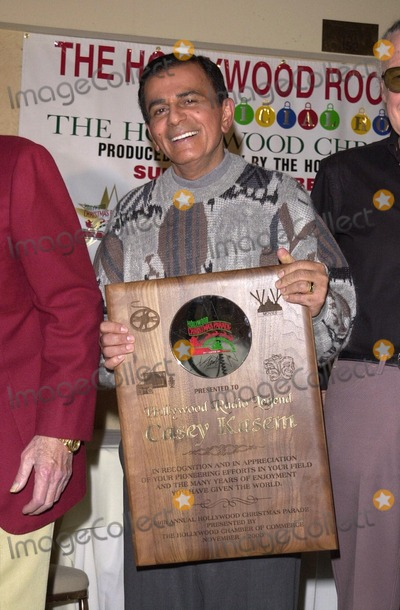 Casey Kasem Photo -  Casey Kasem at the 69th Annual Hollywood Christmas Parade Grand Marshall Announcement Hollywood 11-21-00