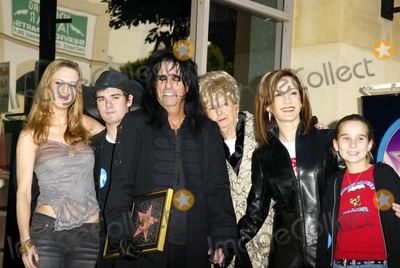 Alice Cooper Photo - Alice Cooper and family members at Coopers induction into the Hollywood Walk of Fame Hollywood CA 12-02-03