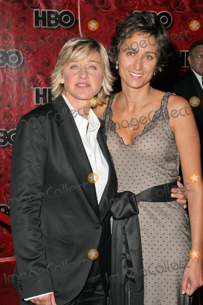 Alexandra Hedison Photo - Ellen Degeneres and Alexandra Hedison at the HBO Emmy Party Pacific Design Center West Hollywood CA 09-19-04