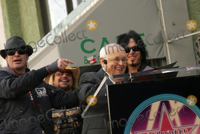 Motley Crue Photo - Motley Crue and Johnny Grantat the ceremony honoring them with the 2301st star on the Hollywood Walk of Fame Hollywood Boulevard CA 01-25-06