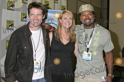 Christopher Judge Photo - Ben Browder with Amanda Tapping and Christopher Judgeat 2007 Comic-Con International San Diego Convention Center San Diego CA 07-27-07