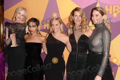 Nicole Kidman Photo - Nicole Kidman Zoe Kravitz Reese Witherspoon Laura Dern Shailene Woodleyat the HBO Golden Globes After Party Beverly Hilton Beverly Hills CA 01-07-18