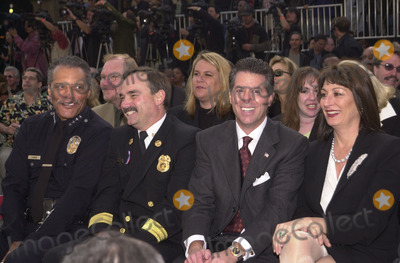 Angelica Huston Photo - Police Chief Bernard Parks sits near Angelica Huston at the grand opening of Hollywood  Highland including the Kodak Theater Hollywood 11-09-01