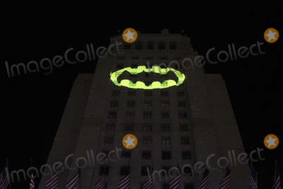 Adam West Photo - Atmosphereat the Bat Signal Lighting Ceremony to honor Adam West Los Angeles City Hall Los Angeles CA 06-15-17