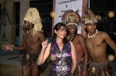 Karen Allen Photo - Karen Allen and Shaka Zulu dancers at the premiere of Shaka Zulu The Citadel at the Egyptian Theater Hollywood 08-06-02