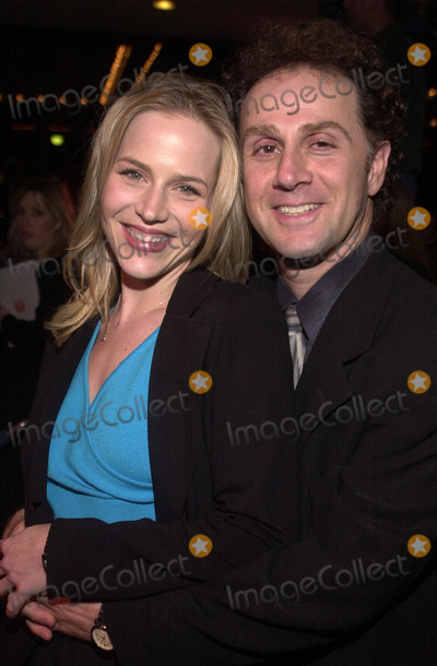 ABBA Photo - Julie Benz and Jon Kassir at the premiere of MAMA MIA the musical based on the songs of ABBA Schubert Theater Century City 02-26-01