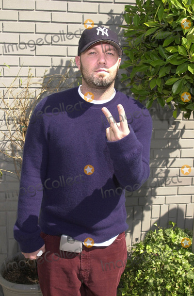 911 Photo -  FRED DURST at the celebrity recording of We Are Family to benefit the victims of New Yorks 9-11 tragedy 09-23-01