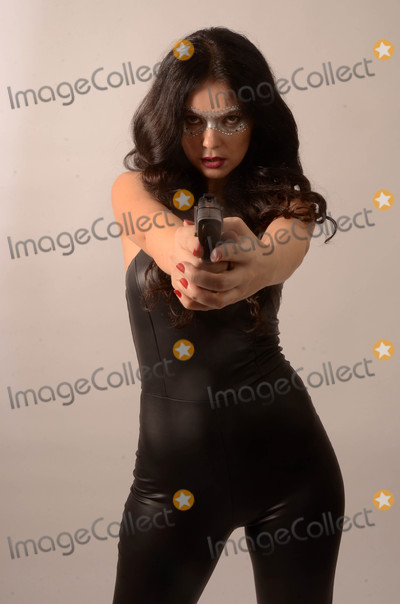 Allstar Weekend Photo - Natasha Blasickthe Ukranian actress who appears in the upcoming Jamie Foxx film All-Star Weekend dresses up as a Bond-like catsuit killer for Halloween Hollywood CA 10-29-17