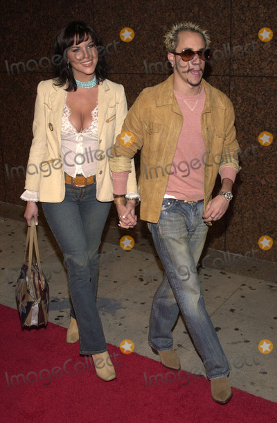 AJ McLean Photo - AJ Mcleanand Sarah Martin at a celebration for Jaggers Goddess In The Doorway album El Rey Theater Los Angeles 11-15-01