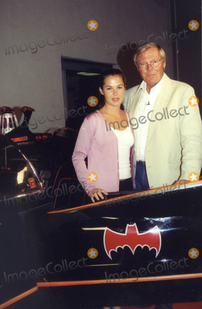 Adam West Photo -  ADAM WEST and DAUGHTER NINA on the set of The Man Show in Hollywood 06-21-01 on the set of The Man Show in Hollywood 06-01-01