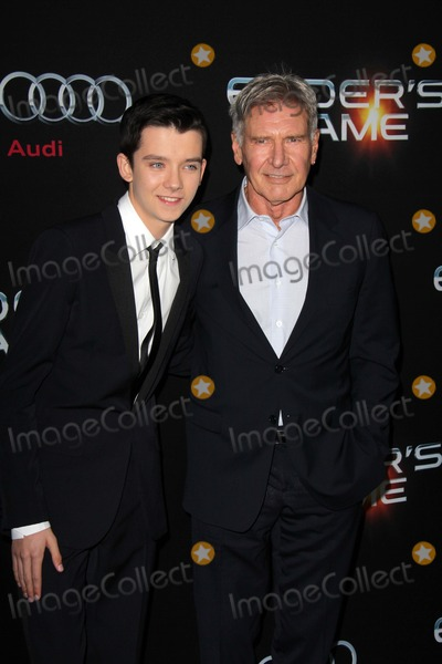 Asa Butterfield Photo - Asa Butterfield Harrison Fordat the Enders Game Los Angeles Premiere Chinese Theater Hollywood CA 10-28-13