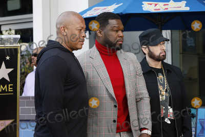 Dres Photo - LOS ANGELES - JAN 30  Dr Dre Curtis Jackson 50 Cent Eminem Marshall Bruce Mathers III at the 50 Cent Star Ceremony on the Hollywood Walk of Fame on January 30 2019 in Los Angeles CA
