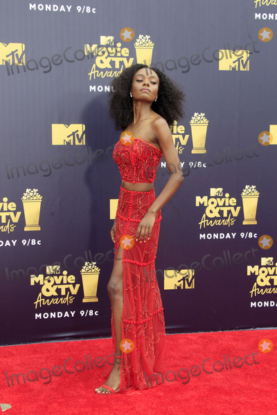 Ashleigh Murray Photo - LOS ANGELES - JUN 16  Ashleigh Murray at the 2018 MTV Movie And TV Awards at the Barker Hanger on June 16 2018 in Santa Monica CA