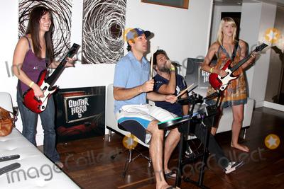 Ashley Campbell Photo - Amy Pham Zachary Levi Joshua Gomez  Ashley CampbellChuck Kickoff party presented by Guitar Hero FiveRoosevelt Hotel Pool Los Angeles  CAOctober 10  2009
