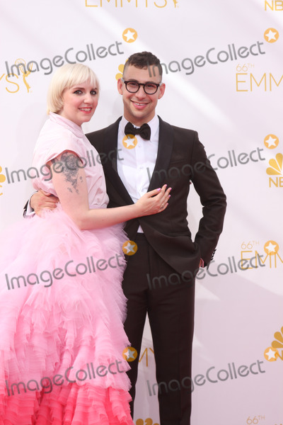 Lena Dunham Photo - LOS ANGELES - AUG 25  Lena Dunham Jack Antonoff at the 2014 Primetime Emmy Awards - Arrivals at Nokia Theater at LA Live on August 25 2014 in Los Angeles CA