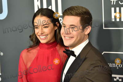 Adam DeVine Photo - LOS ANGELES - JAN 12  Chloe Bridges Adam Devine at the Critics Choice Awards 2020 at the Barker Hanger on January 12 2020 in Santa Monica CA