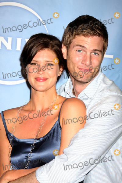 Adam Baldwin Photo - Sarah Lancaster  Ryan McPartlin   arriving at the NBC TCA Party at The Langham Huntington Hotel  Spa in Pasadena CA  on August 5 2009