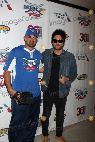 Adrian Gonzalez Photo - LOS ANGELES - NOV 7  Adrian Gonzalez Beto Cuevas at the Adrian Gonzalezs Bat 4 Hope Celebrity Softball Game PADRES Contra El Cancer at the Dodger Stadium on November 7 2015 in Los Angeles CA