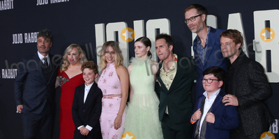 Archie Yates Photo - LOS ANGELES - OCT 15  Chelsea Winstanley Carthew Neal Taika Waititi Rebel Wilson Roman Griffin Davis Scarlett Johansson Thomasin McKenzie Sam Rockwell Stephen Merchant Archie Yates Alfie Allen at the Jojo Rabbit Premiere at the American Legion Post 43 on October 15 2019 in Los Angeles CA