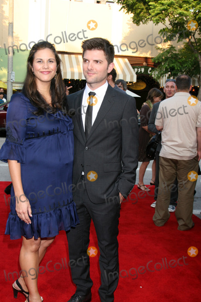 Adam Scott Photo - Adam Scott  Wife  arriving at the Premiere of Step Brothers at Manns Village Theater in Westwood CA onJuly 15 2008