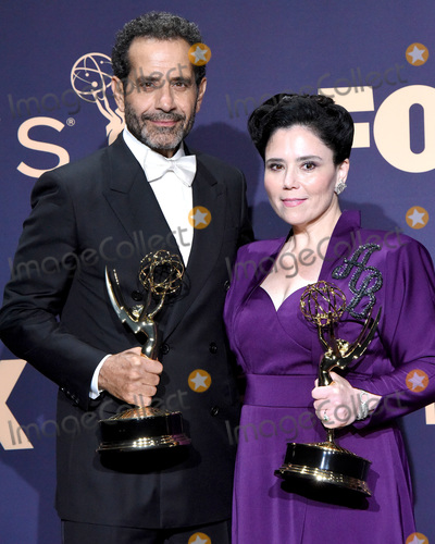 Alex Borstein Photo - LOS ANGELES - SEP 22  Tony Shalhoub Alex Borstein at the Emmy Awards 2019 PRESS ROOM at the Microsoft Theater on September 22 2019 in Los Angeles CA