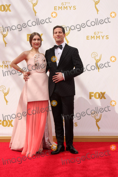 Andy Samberg Photo - LOS ANGELES - SEP 20  Joanna Newsom Andy Samberg at the Primetime Emmy Awards Arrivals at the Microsoft Theater on September 20 2015 in Los Angeles CA