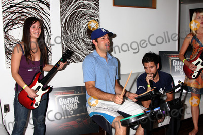 Ashley Campbell Photo - Amy Pham Zachary Levi Joshua Gomez  Ashley CampbellChuck Kickoff party presented by Guitar Hero FiveRoosevelt Hotel Pool Los Angeles  CAOctober 10  2009