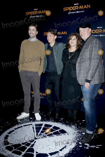 Amy Pascal Photo - LAS VEGAS - MAR 27  Jon Watts Tom Holland Amy Pascal Kevin Feige at the Sony CinemaCon Photocall at the Caesars Palace on March 27 2017 in Las Vegas NV