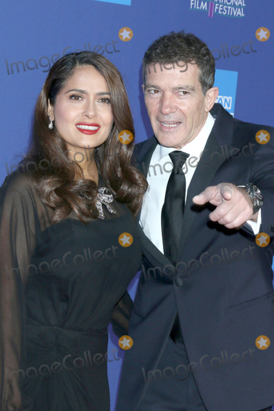 Salma Hayek Photo - PALM SPRINGS - JAN 2  Salma Hayek and Antonio Banderas at the 2020 Palm Springs International Film Festival Gala Arrivals at the Conventional Center on January 2 2020 in Palm Springs CA