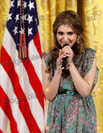 Alex Wong Photo - Afghan singer Mozdah Jamalzadah performs during a reception in honor of International Womens Day hosted by United States President Barack Obama and first lady Michelle Obama at the East Room of the White House Monday March 8 2010 in Washington DC The reception honored women from around the world and their achievements   Photo by Alex WongPool-CNP-PHOTOlinknet
