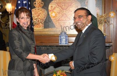 Asif Ali Photo - New York NY 9-25-2008United NationsPakistani President-elect Asif Ali Zardariand Governor Sarah Palinvisits the 63rd UN General AssemblyDigital photo by Luiz Rampelotto-PHOTOlinknet