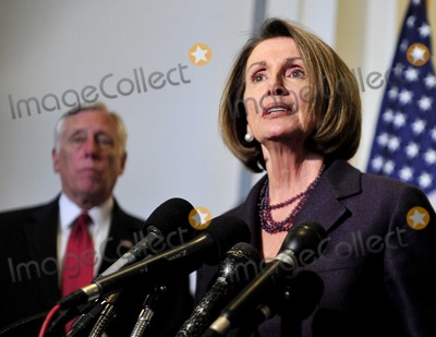 House Speaker Nancy Pelosi Photo - HOUSE DEMOCRATS CAUCUSUnited States House Speaker Nancy Pelosi (Democrat of California) makes a statement following the meeting where US House Democrats selected their leadership for the 112th Congress in Washington DC on Wednesday November 17 2010  Pelosi will serve as the US House Democratic Leader in the new Congress  At left is US House Majority Leader Steny Hoyer (Democrat of Maryland) who will serve as Democratic Whip in the new CongressPhoto by Ron SachsCNP-PHOTOlinknet