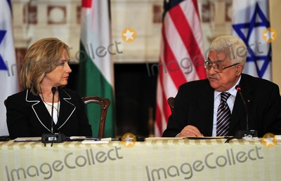 ABBA Photo - United States Secretary of State Hillary Rodham Clinton listens as President Mahmoud Abbas of the Palestinian Authority makes remarks at the Relaunch of Direct Negotiations Between the Israelis and Palestinians in the Benjamin Franklin Room of the US Department of State on Thursday September 2 2010  Credit Ron Sachs  CNP(RESTRICTION NO New York or New Jersey Newspapers or newspapers within a 75 mile radius of New York City)