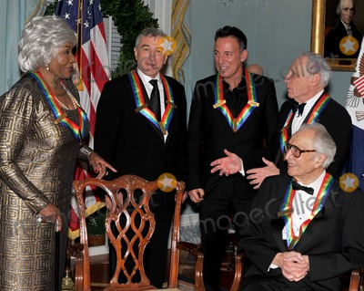 Dave Brubeck Photo - Washington DC - December 5 2009 -- 2009 Kennedy Center honorees share some thoughts after posing for the formal group photo following the Artists Dinner at the United States Department of State in Washington DC on Saturday December 5 2009  From left to right Grace Bumbry Robert De Niro Bruce Springsteen Mel Brooks and Dave Brubeck Photo by Ron SachsPool-CNP-PHOTOlinknet