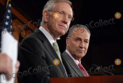 Harry Reid Photo - Washington DC 4222010Capitol Hill press conference(left) Sen Harry Reid (D-NV) and (right) Sen Charles Schumer (D-NY)  held a press conference on Wall Street accountability at the US Capitol Digital photo by Elisa Miller-PHOTOlinknet