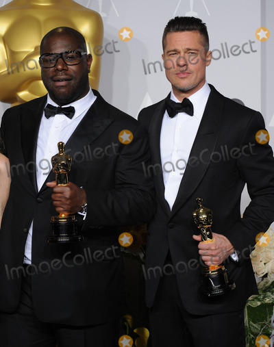 Steve Mc Queen Photo - Photo by KGC-11starmaxinccomSTAR MAX2014ALL RIGHTS RESERVEDTelephoneFax (212) 995-11963214Brad Pitt and Steve McQueen at the 86th Annual Academy Awards (Oscars)(Hollywood CA)