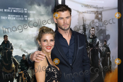 Chris Hemsworth Photo - Photo by John NacionstarmaxinccomSTAR MAX2018ALL RIGHTS RESERVEDTelephoneFax (212) 995-119611618Chris Hemsworth and Elsa Pataky at the premiere of 12 Strong in New York City