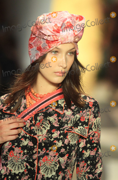 Anna Sui Photo - Photo by Raoul GatchalianstarmaxinccomSTAR MAXCopyright 2018ALL RIGHTS RESERVEDTelephoneFax (212) 995-119691018Bella Hadid on the runway during the Anna Sui Fashion Show as part of New York Fashion Week in New York City(NYC)